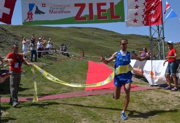 Zieleinlauf Zermatt Marathon