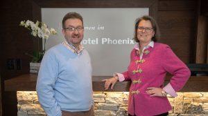 Gastgeber Laurence und Denis Hotel Phoenix Zermatt
