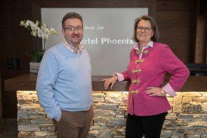 Laurence und Denis im Hotel Phoenix in Zermatt